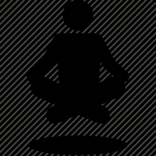 levitate, levitation, meditation, yoga icon