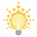 bulb, creative, idea, light, light bulb, lightbulb icon