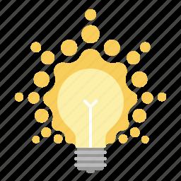 bulb, creative, creativity, idea, light, light bulb, lightbulb icon