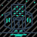 architecture, building, company, enterprise, place icon