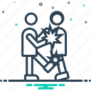 battle, combat, controversy, dispute, fight, fighting, squabble icon