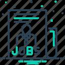 careers, jobs, office, people, task, vacancy, work icon