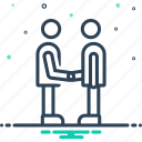 buddy, companion, dost, fellow, friend, handshake, partner icon