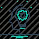 concept, development, dexterity, idea, motivation, organization, skills icon