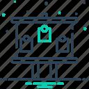 black board, board, facia, sign icon