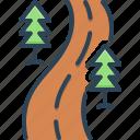 road, street, roadway, driveway, highway, walkway, navigation