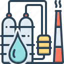 drop, petrochemical, industry, oil plant, petro, manufacturing, refinery icon