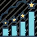 feedback, graphic, increase, position, ranks, rating, satisfaction icon