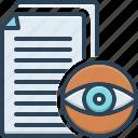 visible, manifest, evident, eyesight, visibility, document