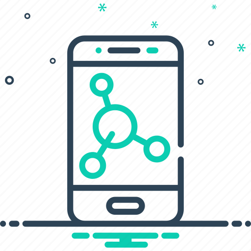 app, cell, mobile, phone, share, smartphone, technology icon