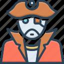 pirates, corsair, rover, nomad, filibuster, picaroon, sea rover