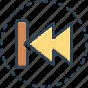 reverse, back, revert, arrow, opposite, go back icon