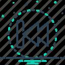 reverse, revert, arrow, opposite, go back, back icon
