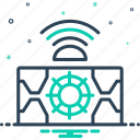 autonomous, metrology, sensor, technology icon