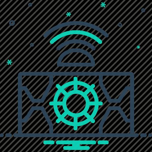 autonomous, metrology, sensor, technology icon