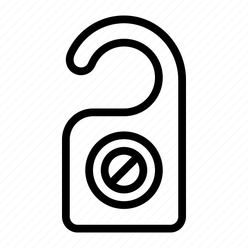 disturb, do, door, hanger, not, privacy icon