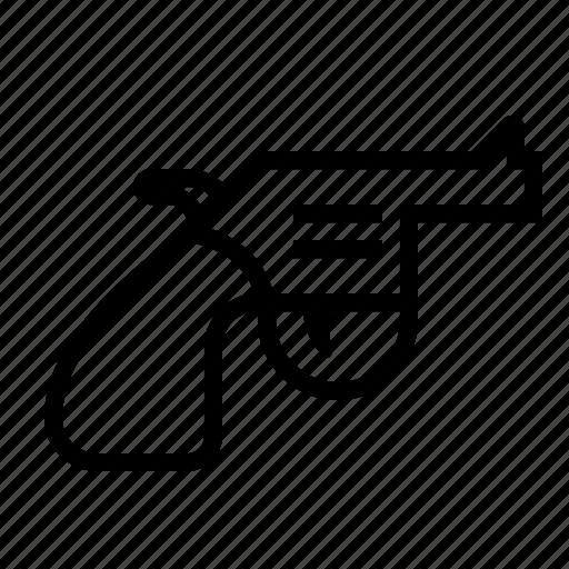 gun, handgun, pistol, revolver, weapon icon