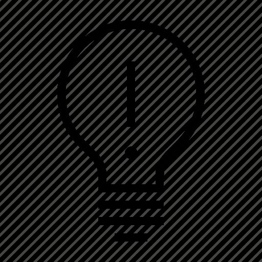idea, light, lightbulb icon