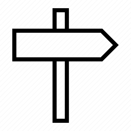 direction, distance, sign icon