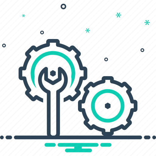 cogwheel, fix, set, setting, tool icon