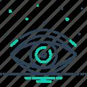 eyesight, look, peep, see, sight, vision, watch icon