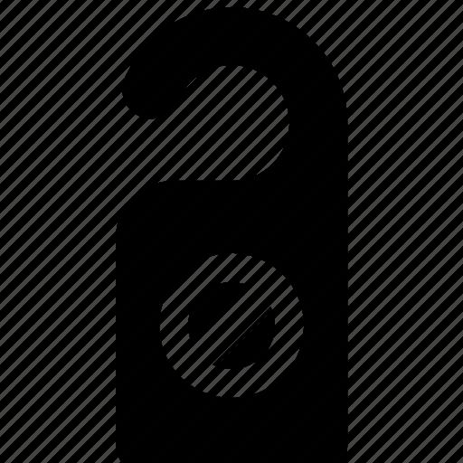disturb, do, door, hanger, not, privacy icon