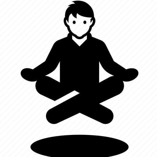levitate, meditate, yoga, yogi icon