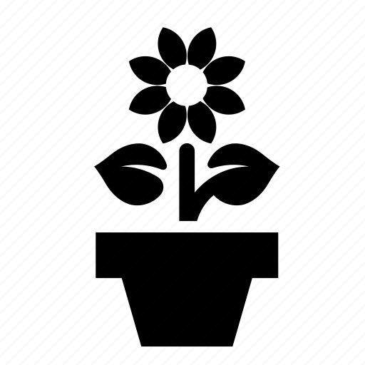 flower, plant, pot icon