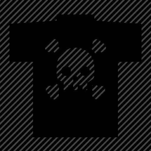 crossbones, skull, tshirt icon