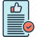 ok, thumb, acceptable, approval, agreeable, admissible icon