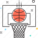 backboard, basketball goal, basketball hoop, basketball stand, sports icon