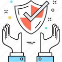 defence, protection, security, shelter, shield icon