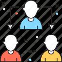 business, delegation, delegation group, delegation task, group icon