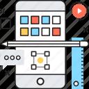 app development, mobile development, mobile layout, mobile ui, pencil icon