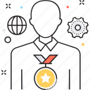 award, cogwheel, medal, premium, winner icon