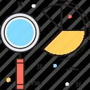 analysis, analytics, monitoring, pie graph, project data icon