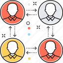 connection, network, pr, relationship, relationship network icon