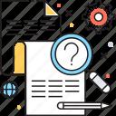faq, faq sheet, pencil, problem, quiz sheet icon