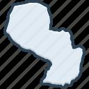 paraguay, country, america, emblem, nation, patriotic, contour