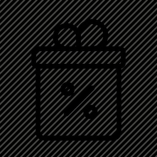 box, discount, free, gift, ribbon, sale icon