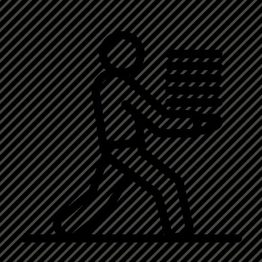 courier, job, man, paper, run, running, work icon