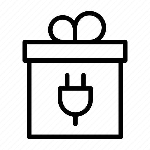 box, connect, connection, discount, free, gift, ribbon icon