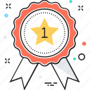 badge, medal, position, reward, winner icon