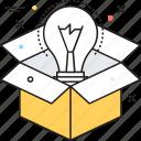 business idea, business innovation, idea concept, idea develop, new idea icon