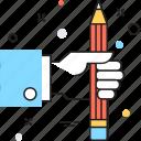 composing, creative design, pencil, web design, web development icon