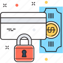 lock, payment protection, secure banking, secure payment, security icon