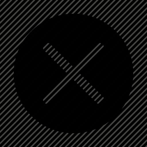 cancel, cancelation, circle, erase, quitting icon