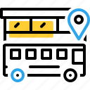 bus, bus location, location, transportation, traveler icon