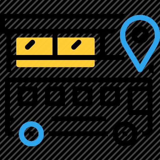 bus, bus location, location, transportation, traveler icon
