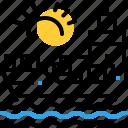chartering, maritime, ocean, sea, transition, transport icon